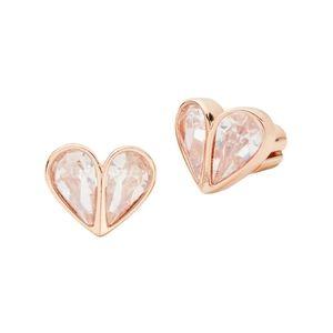 BNWT Kate Spade Crystal Heart Stud Earrings